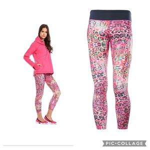 Freddy Superfit DIWO neon leopard crop leggings M